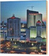 Casinos Atlantic City  Wood Print