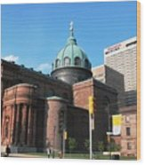 Cathedral Basilica Of Saints Peter And Paul Philadelphia Wood Print