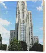 Cathedral Of Learning Wood Print by Thomas R Fletcher