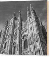 Cathedral Of Milan Wood Print