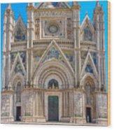 Cathedral Of Orvieto, Duomo Di Orvieto, Umbria, Italy Wood Print