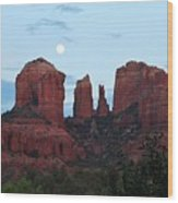 Cathedral Rock Moon 081913 A2 Wood Print