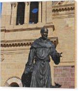 Catholic Cathedral Sante Fe Nm Wood Print