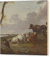 Cattle Wood Print
