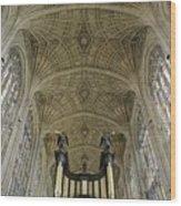Ceiling Of Kings College Chapel Wood Print