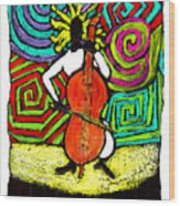 Cello Soloist Wood Print