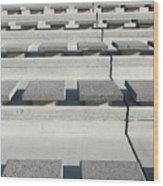 Cement Seats Wood Print