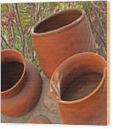 Ceramic Pots Wood Print