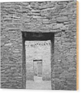 Chaco Canyon Doorways 1 Wood Print