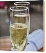 Champagne Glasses Wood Print