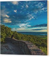 Champlain Lookout Wood Print