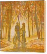 Chance Encounter Wood Print