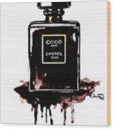 Chanel Noir Perfume Wood Print