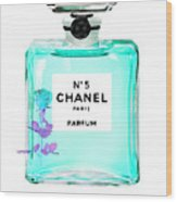 Chanel Perfume Turquoise Chanel Poster Chanel Print Wood Print