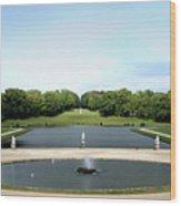 Chantilly Castle Garden In France Wood Print