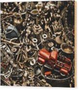 Chaos Wood Print by Gabriela Insuratelu
