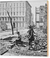 Charleston Ruins, 1865 Wood Print
