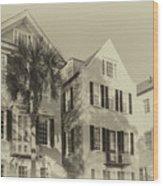 Charleston Style Houses Wood Print