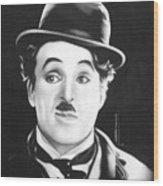 Charli Chaplin Wood Print