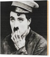 Charlie Chaplin, Vintage Actor And Comedian Wood Print