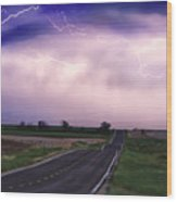 Chasing The Storm - County Rd 95 And Highway 52 - Colorado Wood Print
