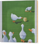 Cheese And Quackers Wood Print