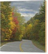 Cherohala Skyway In Autumn Color Wood Print