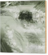Cherry Creek White Water Wood Print by Anne Norskog