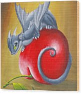 Cherry Dragon Wood Print