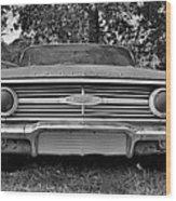 Chevrolet Bel Air Black And White 2 Wood Print