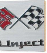 Chevy Emblem Wood Print