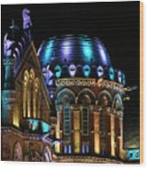 Chhatrapati Shivaji Terminus Formerly Victoria Terminus In Mumbai-4 Wood Print