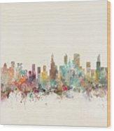 Chicago City Wood Print