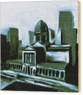 Chicago Federal Building 540 3 Wood Print