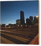 Chicago Skyline At Dawn Wood Print
