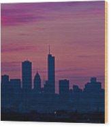 Chicago Sunrise Wood Print