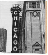 Chicago Theater Wood Print