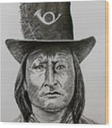 Chief Bird Arapahoe Wood Print