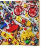 Childhood Toys Wood Print