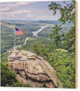 Chimney Rock State Park Wood Print