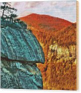 Chimney Rock Wood Print