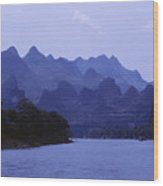 China, Guilin Wood Print