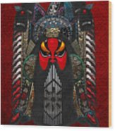 Chinese Masks - Large Masks Series - The Red Face Wood Print