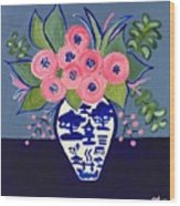 Chinoiserie Vase  Wood Print