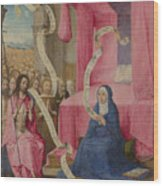 Christ Appearing To The Virgin Wood Print