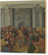 Christ Disputing With The Doctors Wood Print