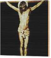 Christ On The Cross Wood Print