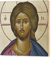 Christ Pantokrator Wood Print by Julia Bridget Hayes