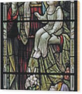 Christ With The Children. Wood Print