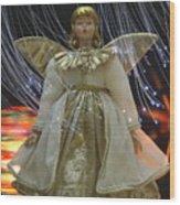 Christmas-angel Wood Print